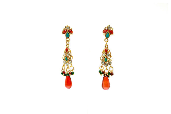 Elegant Red Earrings - Trendz & Traditionz Boutique