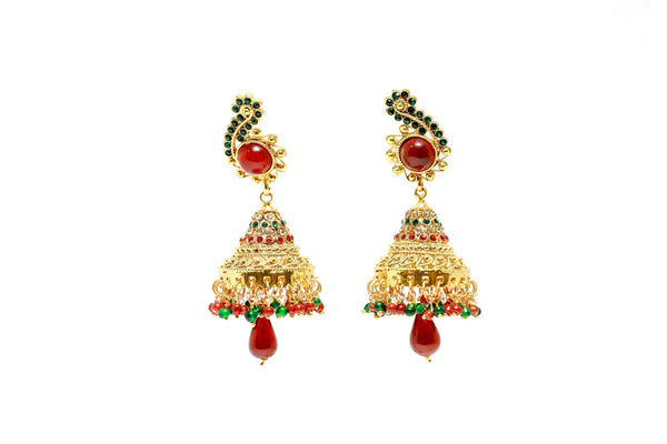 Gold Festive Jhumka Jhumki Earrings - Trendz & Traditionz Boutique