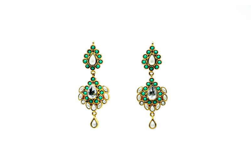 Turquoise Green Dangle Earrings - Trendz & Traditionz Boutique