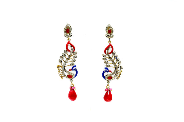Peacock Dangle Earrings - Trendz & Traditionz Boutique