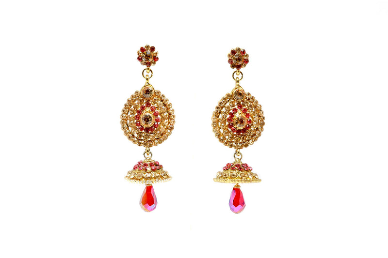 Magenta Bollywood Dangle Earrings - Trendz & Traditionz Boutique