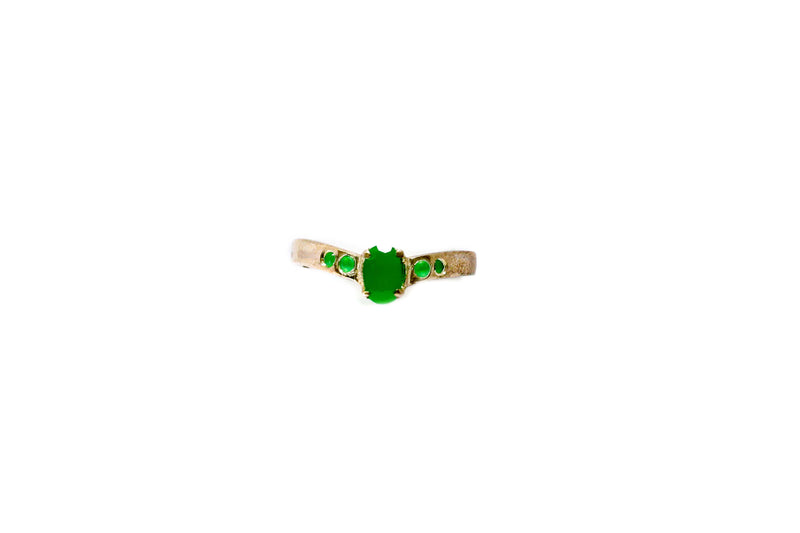 Simply Elegant Ring With Green Stones - Trendz & Traditionz Boutique
