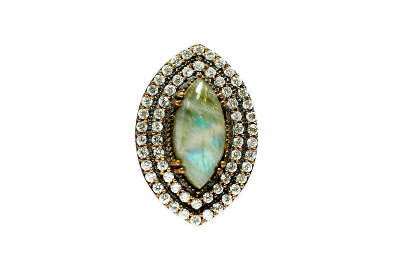 Marquise Cut Cloudy Grey Ring - Trendz & Traditionz Boutique