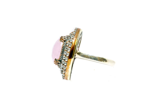 Turkish Silver Ring With Pink Stone - Trendz & Traditionz Boutique