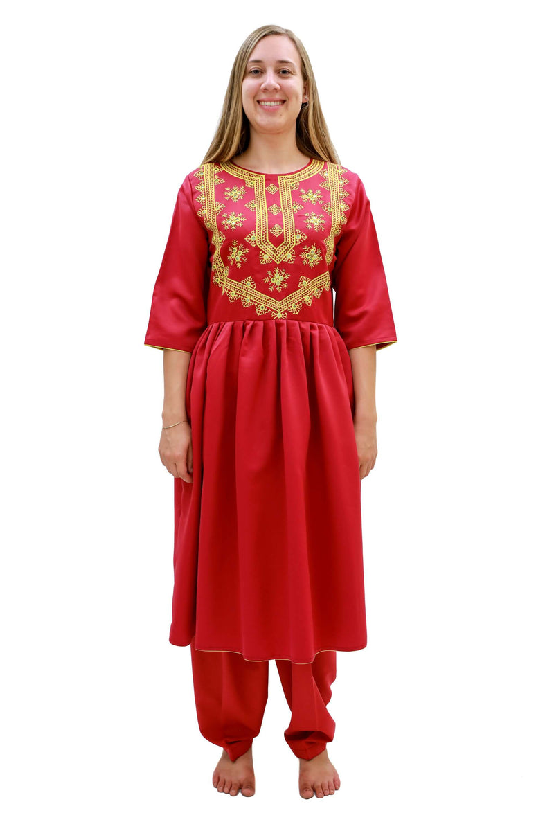 Red Silk Salwar Kameez-Suit - Trendz & Traditionz Boutique