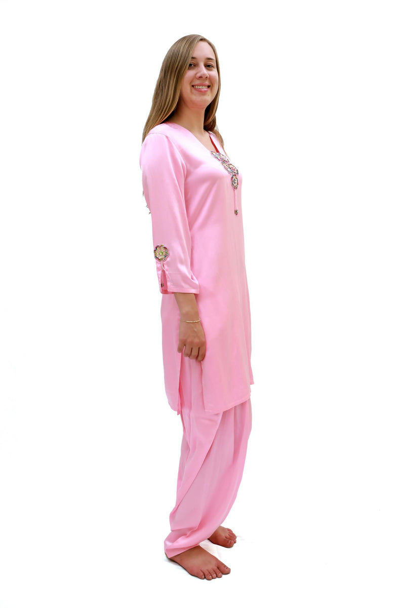 Pink Silk Salwar Kameez Suit - Indian Pakistani - South Asian Fashion