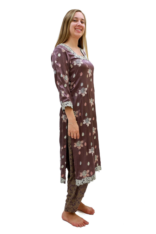 Purple Silk Salwar Kameez Suit - Trendz & Traditionz Boutique
