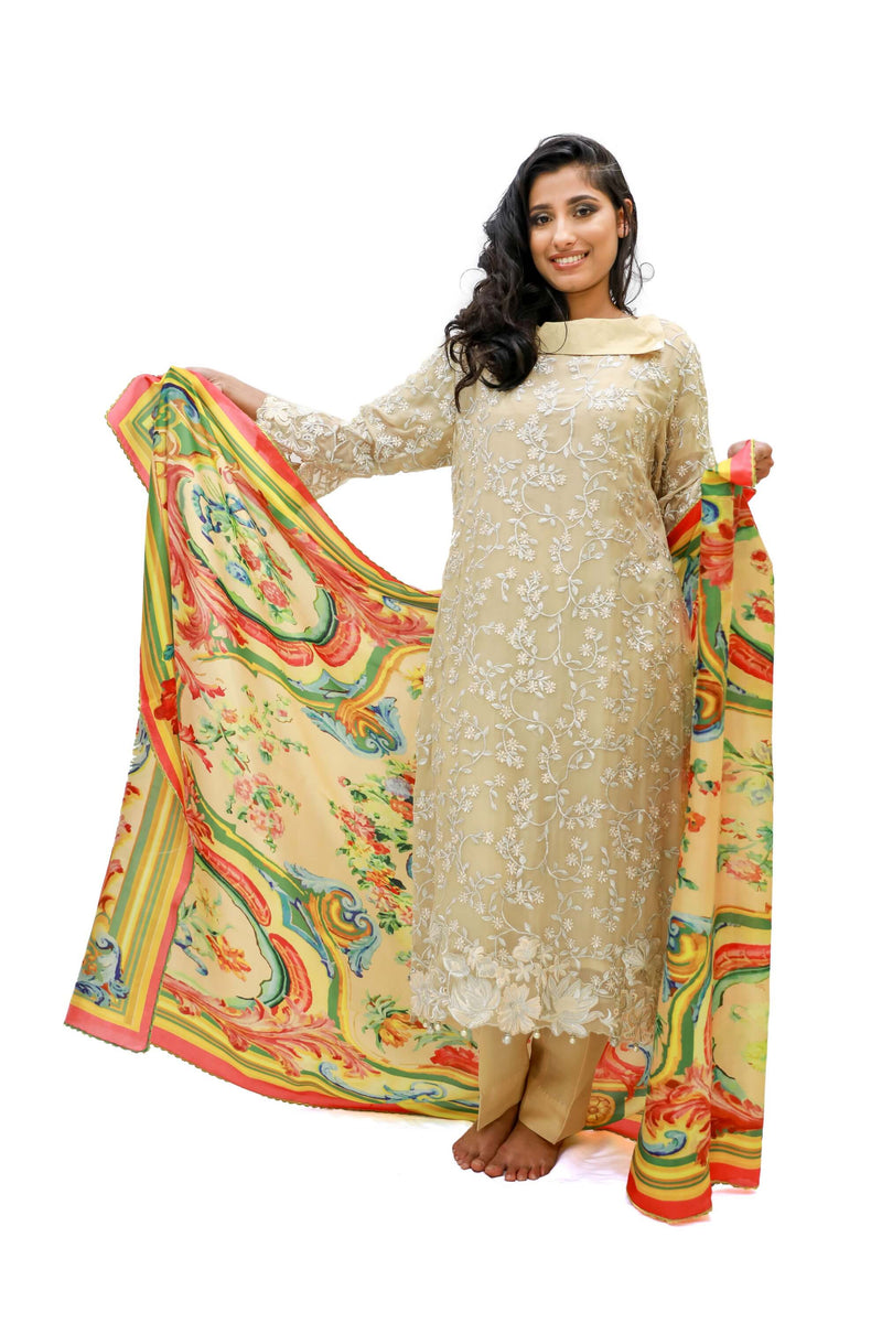 Chiffon Designer Embroidery suit- Trendz & Traditionz Boutique