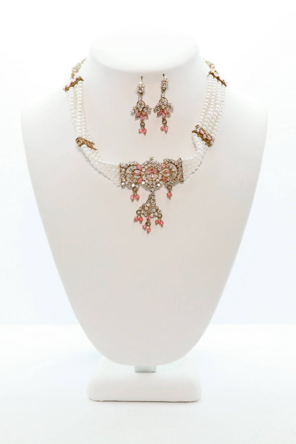 Elegant Pearl Statement Set - Trendz & Traditionz Boutique