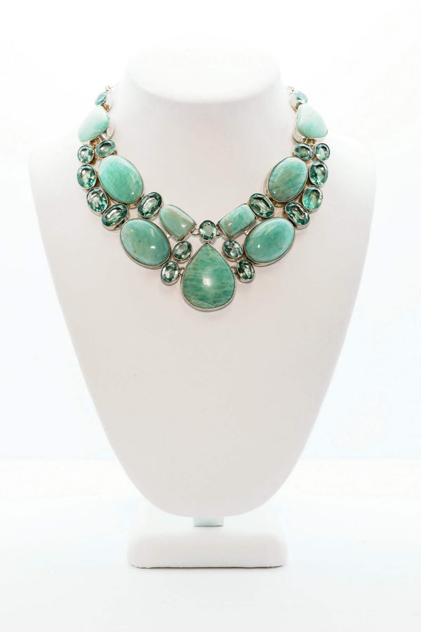 Turquoise Gemstone Necklace - South Asian Fashion & Unique Home Decor