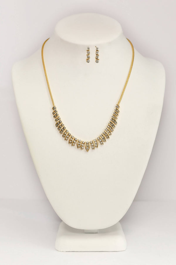 Gold Rope Necklace & Earrings Set - Trendz & Traditionz Boutique