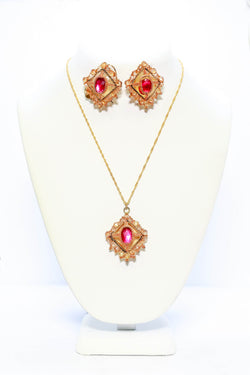 Gold With Pink Set - Trendz & Traditionz Boutique