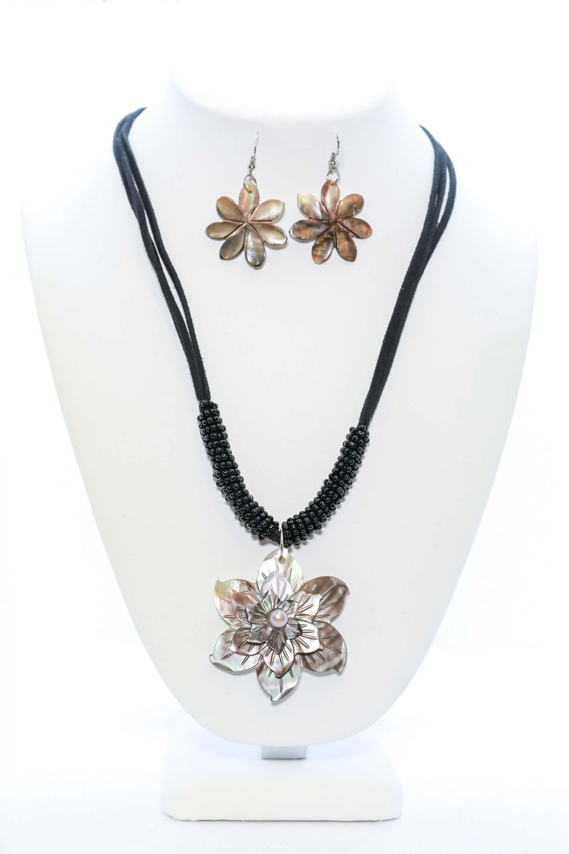 Floral Necklace and Earring Set - Trendz & Traditionz Boutique