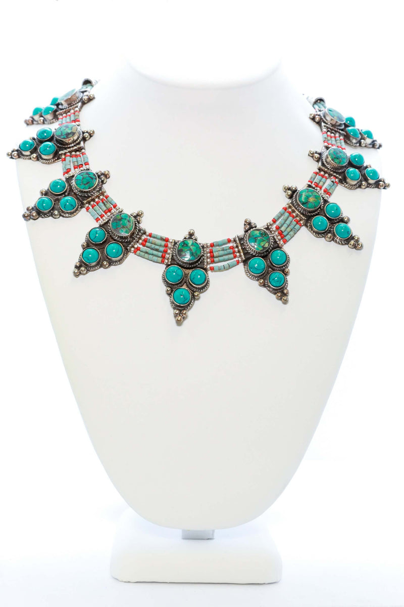 Handmade Turquoise Statement Necklace - Trendz & Traditionz Boutique