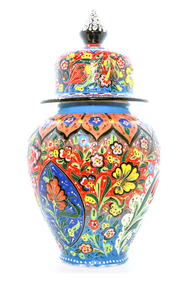 Floral Turkish Ceramic Vase