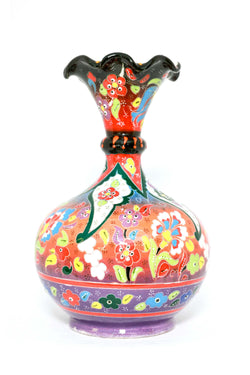 Turkish Hand Painted Ceramic Vase - Trendz & Traditionz Boutique