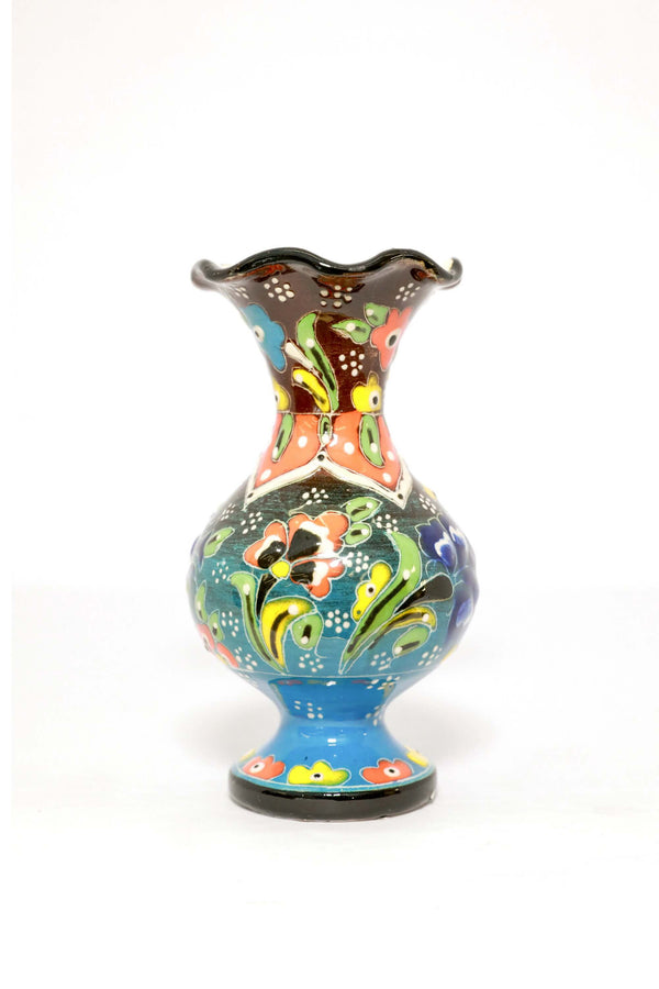 Multicolored Ceramic Turkish Hand Painted Vase - Trendz & Traditionz Boutique