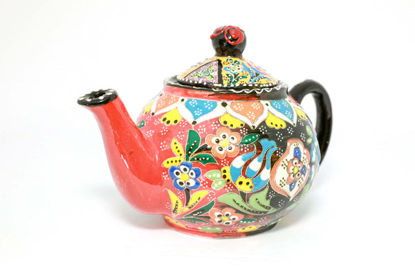 Multicolored Ceramic Turkish Hand Painted Tea Pot - Trendz & Traditionz Boutique