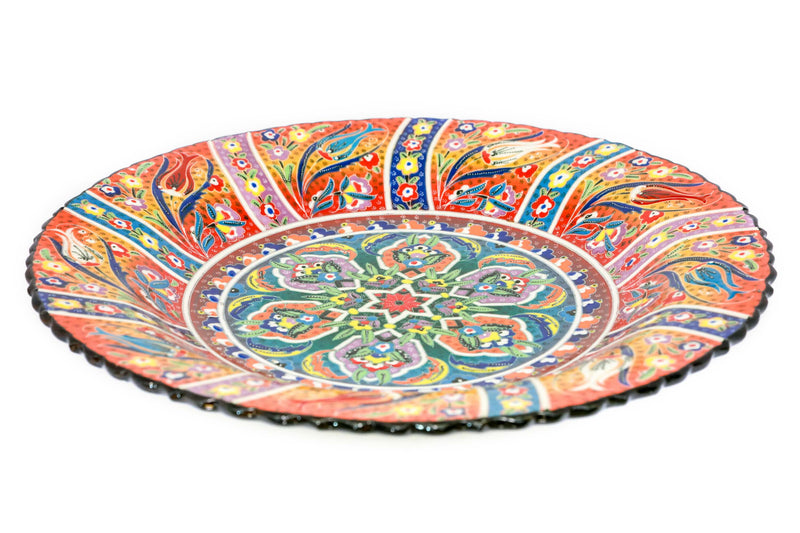 Hand Painted Turkish Ceramic Plate - Trendz & Traditionz Boutique
