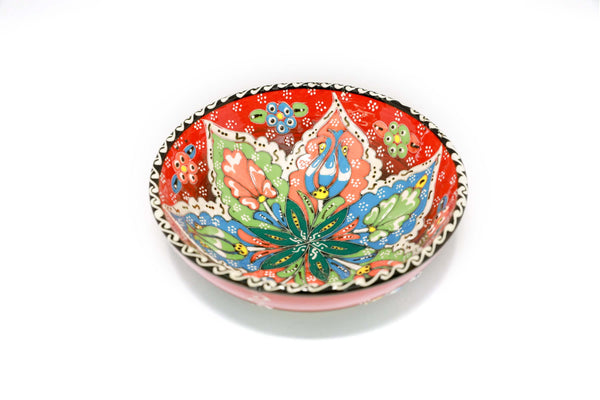 Multicolored Hand-Painted Bowl - Unique Turkish Ceramic Home Decor