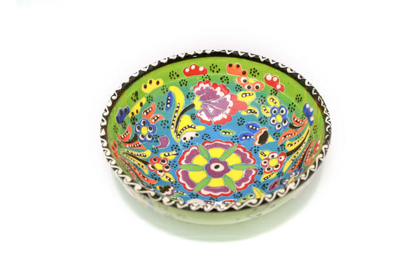 Hand Painted Green Turkish Bowl - Trendz & Traditionz Boutique