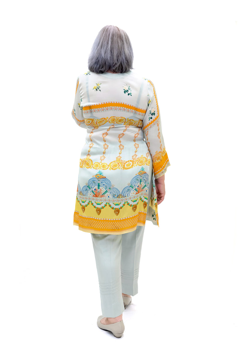 Light Blue Silk Salwar Kameez - Suit - Women's South Asian Fashion