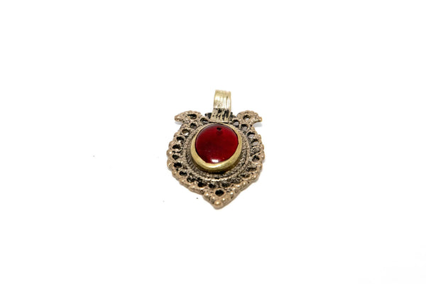 Pendant with Red Stone - South Asian Fashion & Unique Home Decor