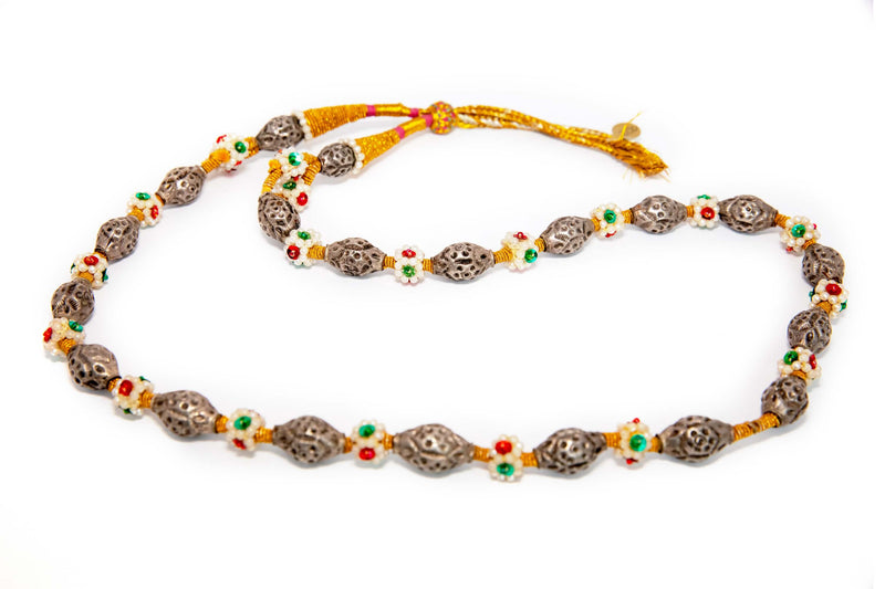 Turkish Silver Beaded Necklace - South Asian Fashion & Accessories