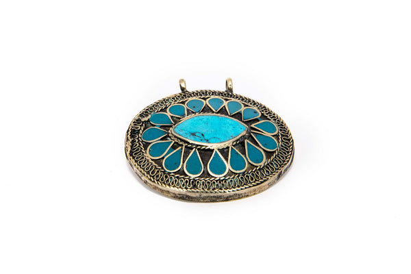 Turquoise Pendant - South Asian Fashion & Unique Home Decor