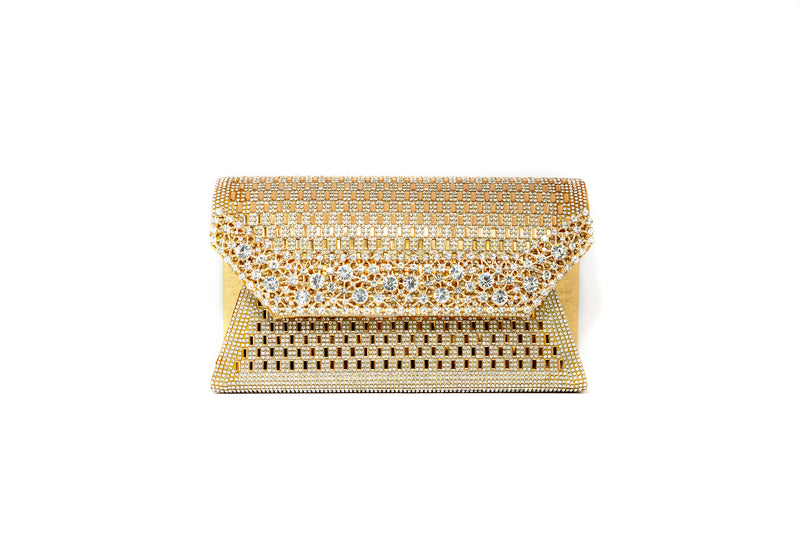 Gold Clutch Purse - South Asian Fashion & Unique Home Decor