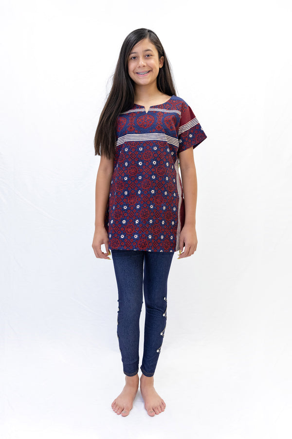 Cotton Shirt with Ethnic Print Designs - South Asian Fashion & Unique Home Decor