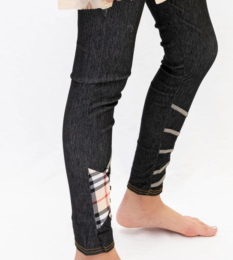 Black Jeggings Cotton - Pants - South Asian Causal Wear