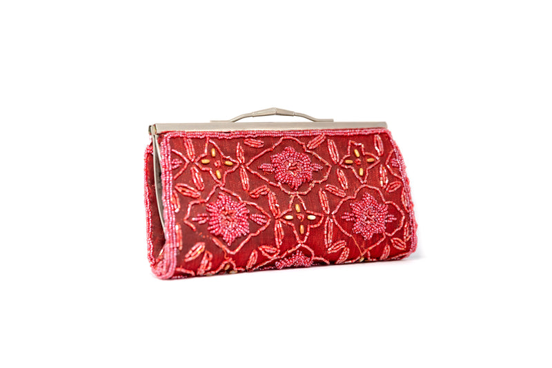 Red Beaded Clutch - South Asian Fashion & Unique Home Decor