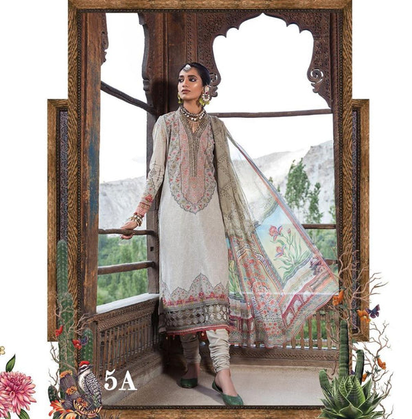 Grey-Green Salwar Kameez-Suit- Maria B.- Trendz & Traditionz Boutique