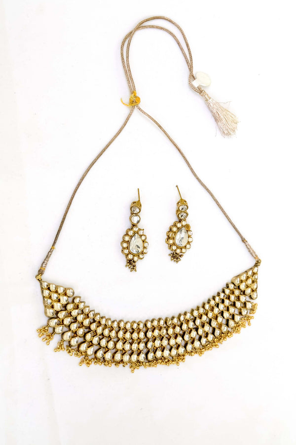 Indian Kundan Necklace- Trendz & Traditionz Boutique