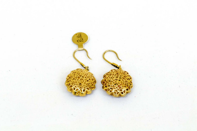 Indian Poliki Earrings Uncut Diamond - Trendz & Traditionz Boutique
