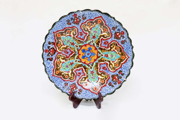 Multicolored Hand Painted Ceramic Bowl-Trendz & Traditionz Boutique