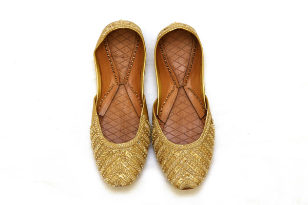 Handmade Girls Shoes Khussa with Beads -Trendz & Traditionz Boutique