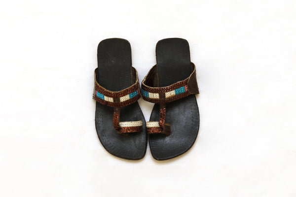 Girls Handmade Leather Sandals-Trendz & Traditionz Boutique