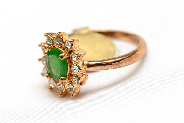 Artificial Emerald Ring - Trendz & Traditionz Boutique