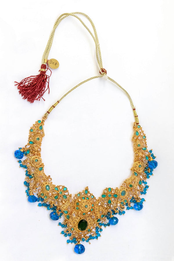 Authentic Indian Handmade Beaded Necklace - Trendz & Traditionz Boutique