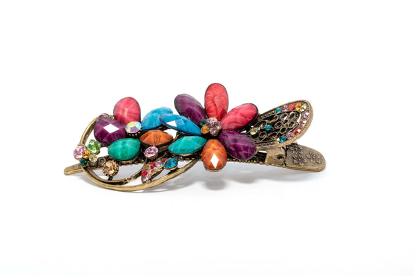Multi-Colored Detailed Floral Hair Clip - Trendz & Traditionz Boutique