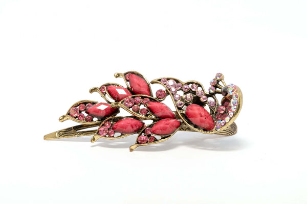 Sparkling Pink Detailed Hair Clip- Trendz & Traditionz Boutique
