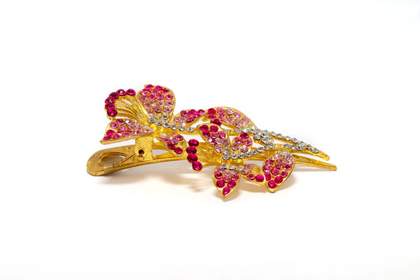 Golden Floral Multi-Colored Hair Pin - Trendz & Traditionz Boutique
