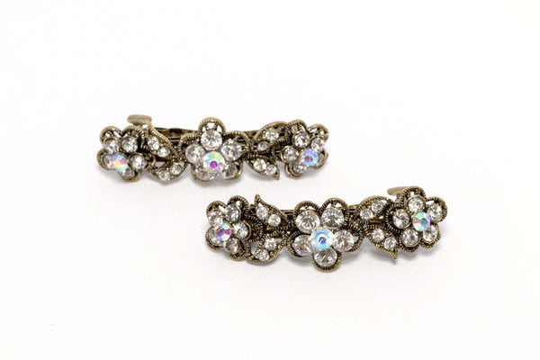 Flowered Diamante Hair Clip - Trendz & Traditionz Boutique