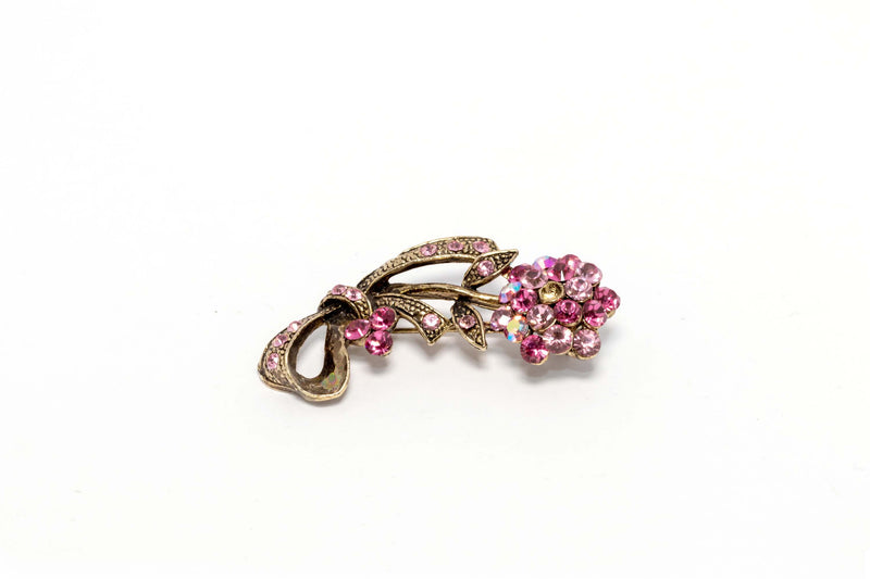 Sparkling Pink Floral Brooch Pin - Trendz & Traditionz Boutique