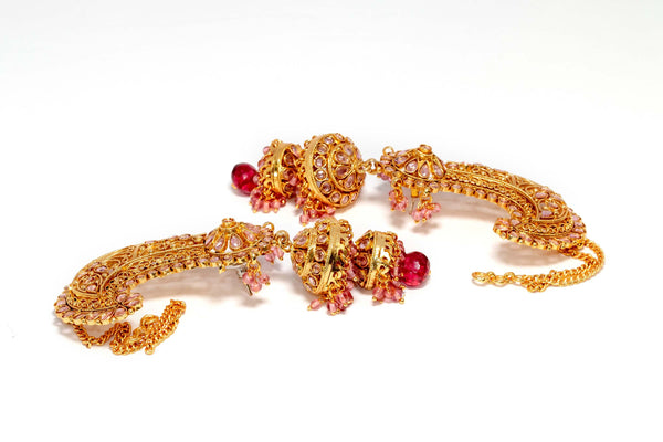 Jhomka Golden Earrings - Trendz & Traditionz Boutique