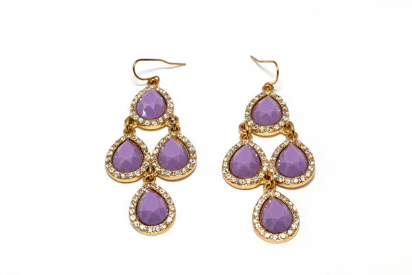 Purples Dangling Earrings - Trendz & Traditionz Boutique