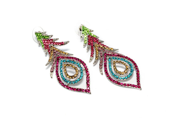 Multi-Colored Dangling Earrings - Trendz & Traditionz Boutique