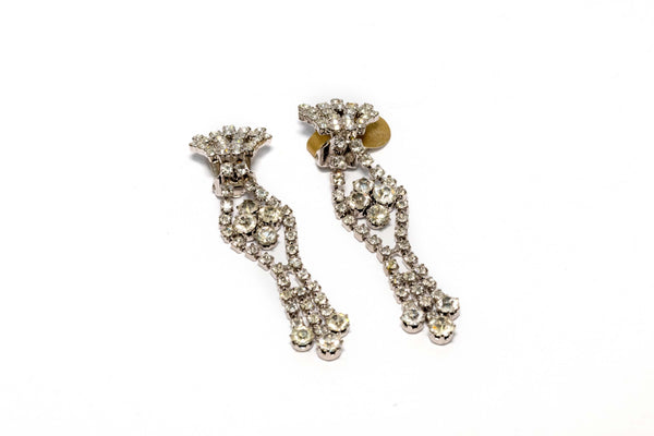 Detailed Dangling Diamante Earrings- Trendz & Traditionz Boutique